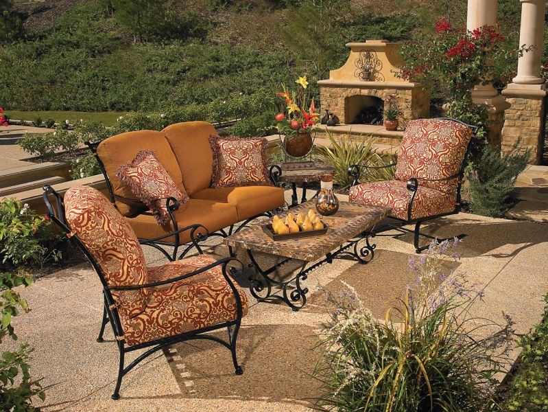 OW Lee -  San Cristobal deep seating  : iron patio chairs - Cheerinfomania.Com